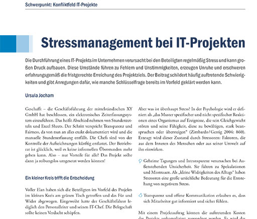 Stressmanagement bei IT Projekten